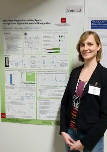 Inken with her awarded poster.
